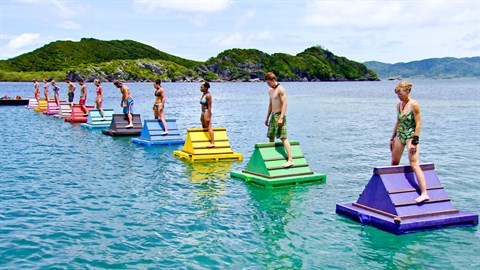 SURVIVOR'S BALANCING ON THE DOGHOUSE PROBST IS IN FOR AS LONG AS HE KEEPS RAMMING SHITTY TWISTS AND RETURNING PLAYERS DOWN OUR THROATS.