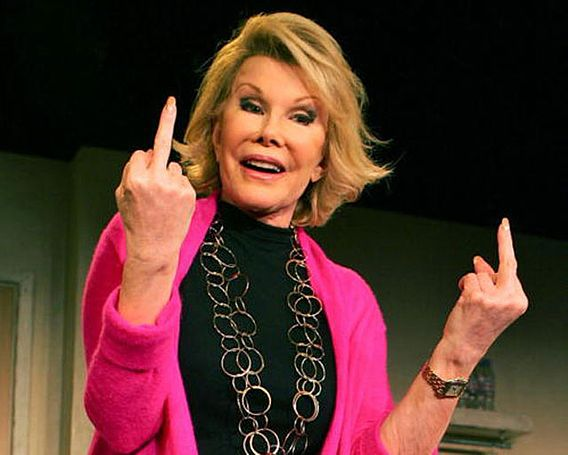 joan rivers middle fingers